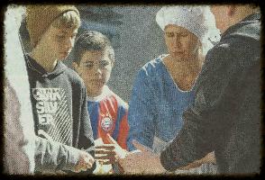Foto aus Zeitungsartikel Schüler reisen ins Mittelalter
